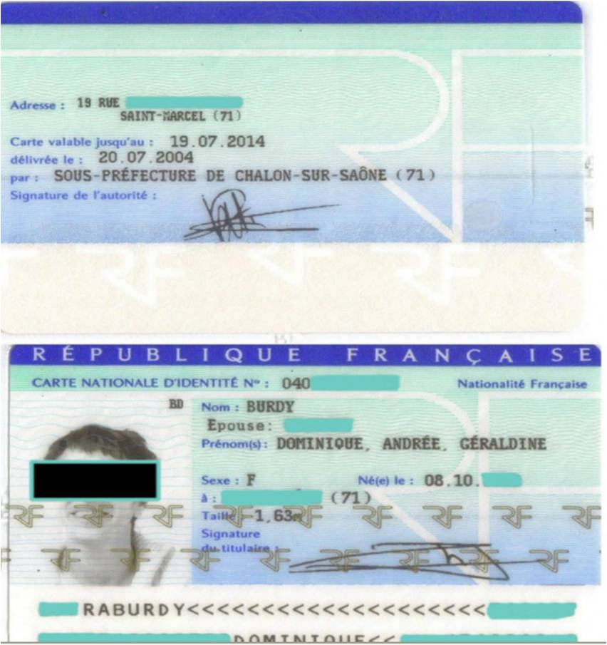 carte d identité francaise recto verso Au cœur d'une escroquerie en ligne via le Bénin   Intrapole, la